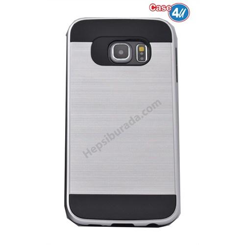 Case 4U Samsung Galaxy S6 Verus Korumalı Kapak Gümüş
