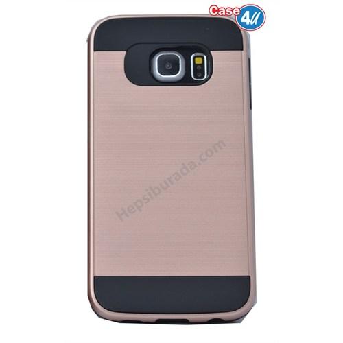 Case 4U Samsung Galaxy S6 Edge Plus Verus Korumalı Kapak Rose Gold
