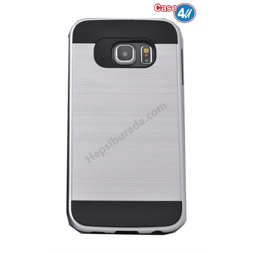 Case 4U Samsung Galaxy S6 Edge Plus Verus Korumalı Kapak Gümüş