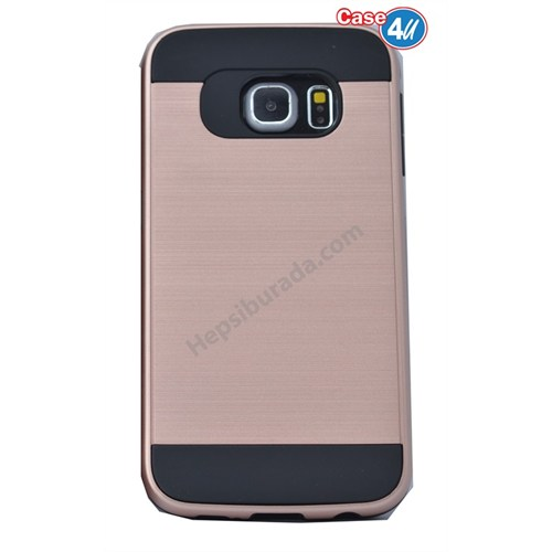 Case 4U Samsung Galaxy S6 Edge Verus Korumalı Kapak Rose Gold