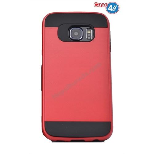 Case 4U Samsung Galaxy S6 Edge Verus Korumalı Kapak Kırmızı