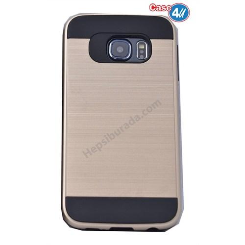 Case 4U Samsung Galaxy S6 Edge Verus Korumalı Kapak Altın