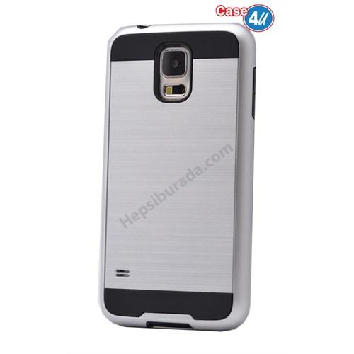 Case 4U Samsung Galaxy S5 Verus Korumalı Kapak Gümüş