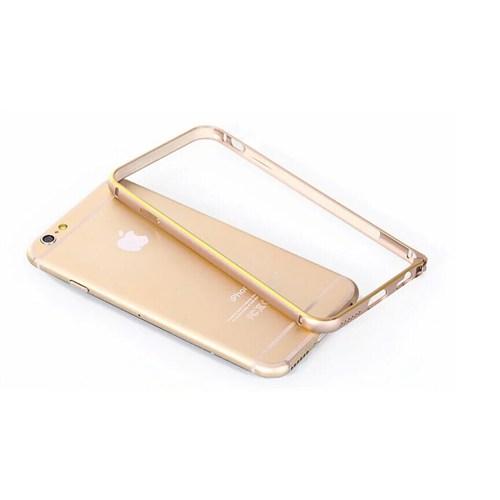 Inovaxis Apple iPhone 6/6S Bumper Koruyucu Metal Çerçeve Kılıf Kapak-Altın