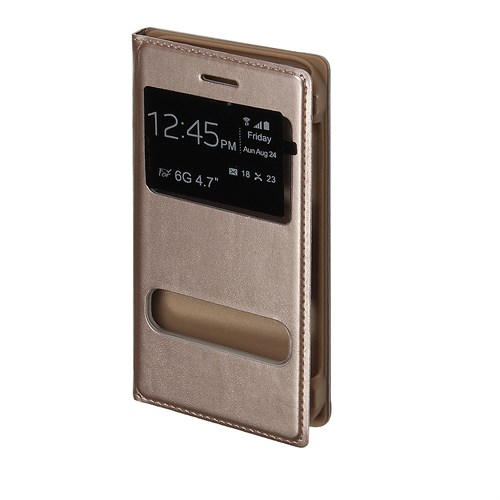 Inovaxis Apple iPhone 6 Plus Flip Cover Kılıf Altın