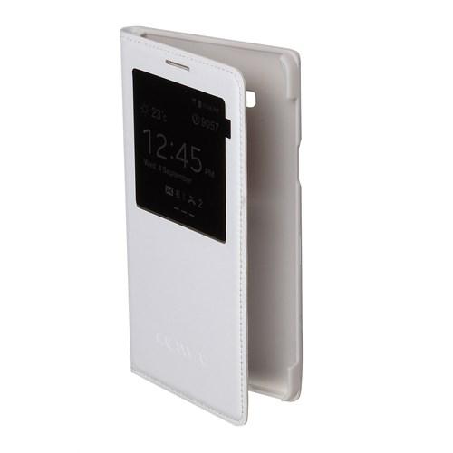 Inovaxis Samsung A7 Flip Cover Kılıf Kapak Beyaz