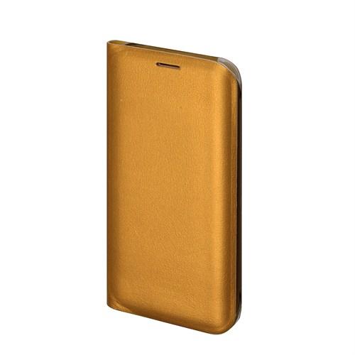 Inovaxis Samsung S6 Edge Penceresiz Flip Cover Kılıf Kapak Altın