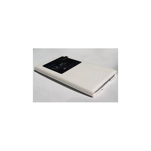 Inovaxis Samsung S5 Akıllı Flip Cover Kılıf Beyaz