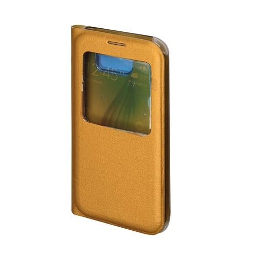 Inovaxis Samsung S6 (Orjinal Görünüm) Flip Cover Kılıf Kapak Altın