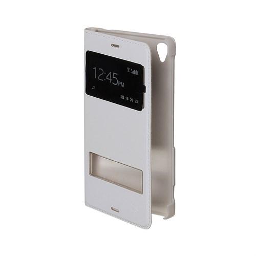 Inovaxis Xperia Z3 Çift Pencereli Flip Cover İnce Ve Koruyucu Kılıf Kapak Beyaz