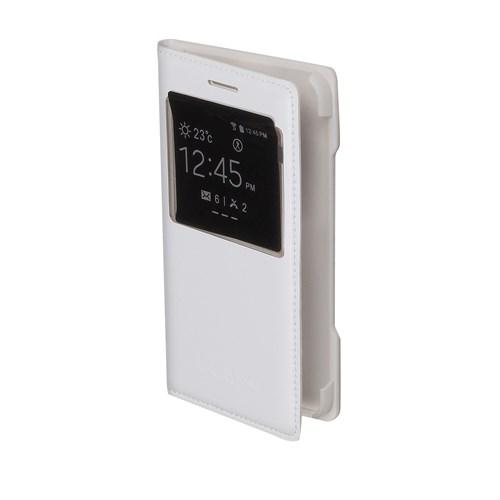 Inovaxis Samsung A3 Flip Cover Kılıf Kapak Beyaz
