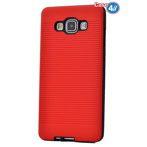 Case 4U Samsung Galaxy E7 You Korumalı Kapak Kırmızı