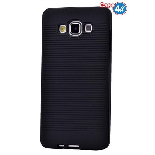 Case 4U Samsung Galaxy E7 You Korumalı Kapak Siyah