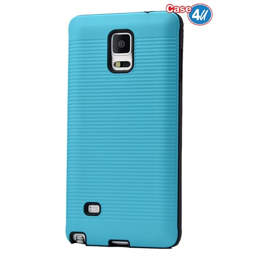 Case 4U Samsung Galaxy Note 4 You Korumalı Kapak Mavi