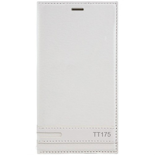 Kılıfshop Türk Telekom Tt175 Kılıf Magnum Beyaz + Kırılmaz Cam Ekran Koruyucu