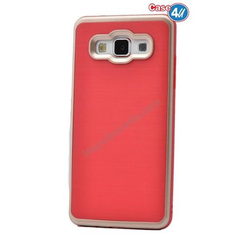 Case 4U Samsung Galaxy On7 Infinity Koruyucu Kapak Kırmızı/Altın*