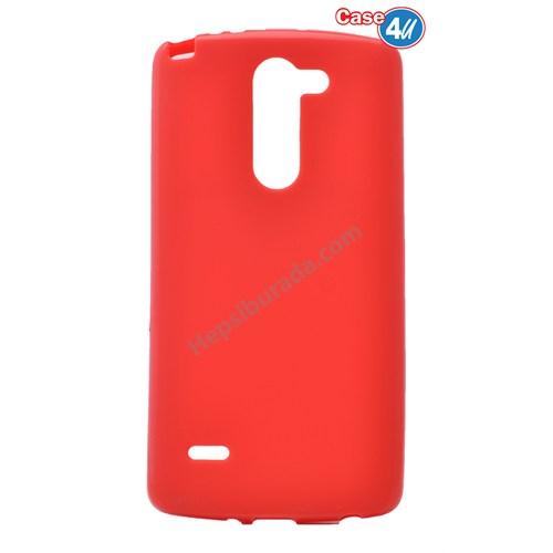 Case 4U Lg G3 Stylus Ultra İnce Silikon Kılıf Kırmızı