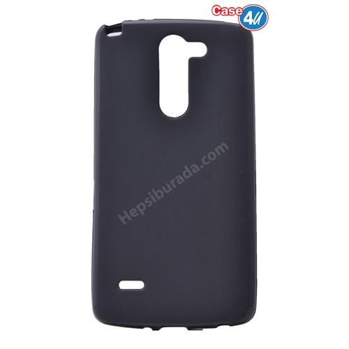 Case 4U Lg G3 Stylus Ultra İnce Silikon Kılıf Siyah
