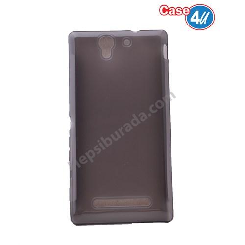Case 4U Sony Xperia C3 Ultra İnce Silikon Kılıf Füme