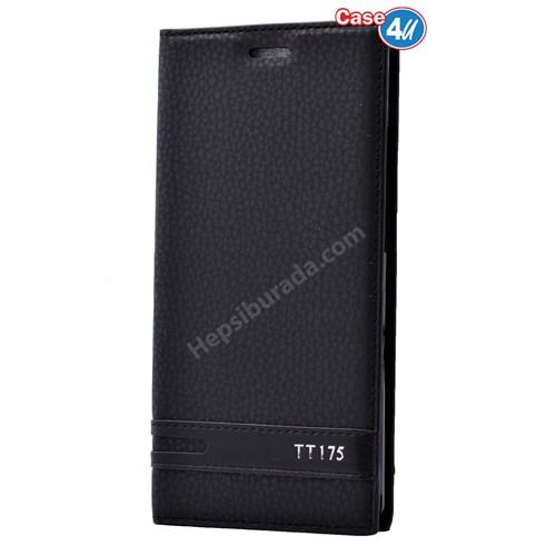 Case 4U Türk Telekom Tt175 Gizli Mıknatıslı Kapaklı Kılıf Siyah