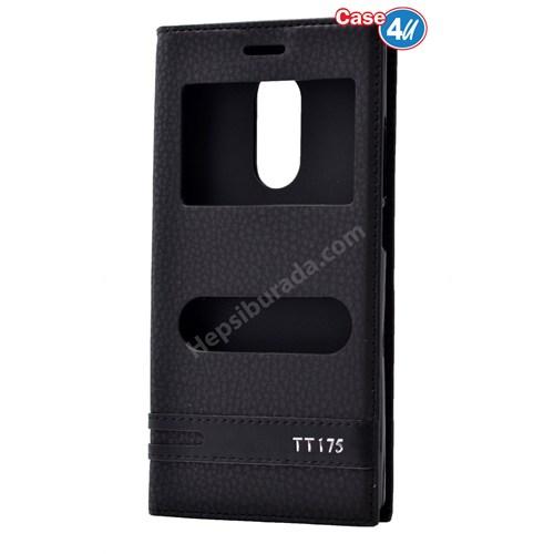 Case 4U Türk Telekom Tt175 Pencereli Kapaklı Kılıf Siyah