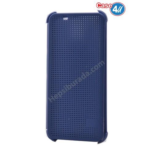 Case 4U Htc One A9 Dot Kapaklı Kılıf Mavi