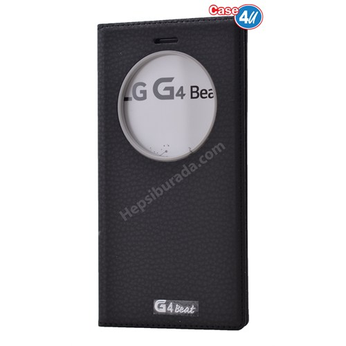 Case 4U Lg G4 Beat Pencereli Kapaklı Kılıf Siyah