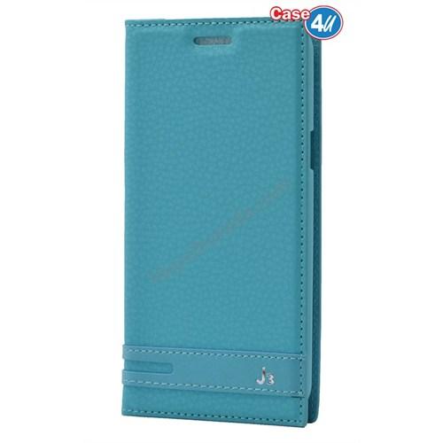 Case 4U Samsung Galaxy J3 Gizli Mıknatıslı Kılıf Yeşil