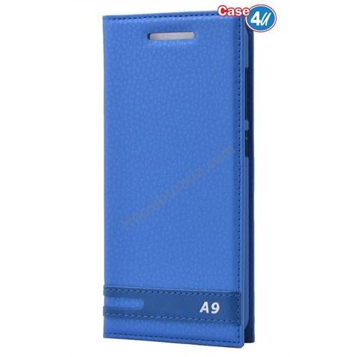Case 4U Htc One A9 Gizli Mıknatıslı Kılıf Mavi