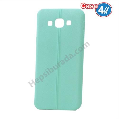 Case 4U Samsung Galaxy On7 Desenli Silikon Kılıf Yeşil