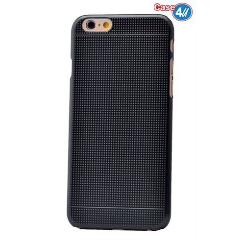 Case 4U Apple İphone 6S Dot Ultra İnce Sert Kapak Siyah