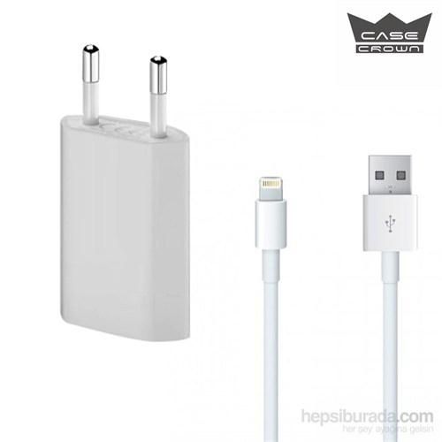 Casecrown Apple iPhone 5/5S/5C/6/6 Plus Şarj Seti