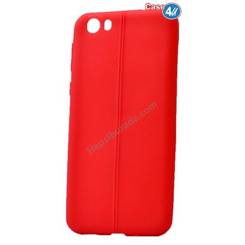 Case 4U Vestel Venus V3 5570 Desenli Silikon Kılıf Kırmızı