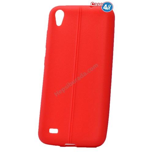 Case 4U Vestel Venus V3 5040 Desenli Silikon Kılıf Kırmızı
