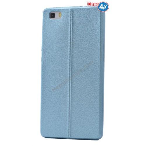 Case 4U Huawei P8 Lite Parlak Desenli Silikon Kılıf Mavi