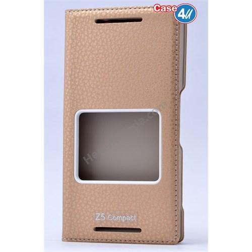 Case 4U Sony Xperia Z5 Compact Dolce Kapaklı Kılıf Altın