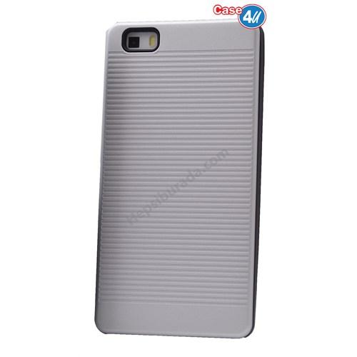 Case 4U Huawei P8 Lite You Koruyucu Kapak Gümüş