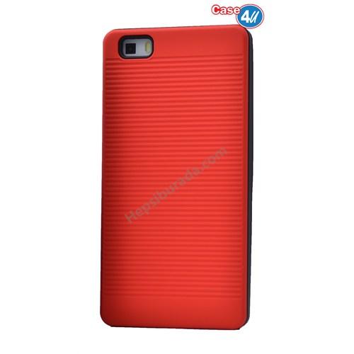 Case 4U Huawei P8 Lite You Koruyucu Kapak Kırmızı