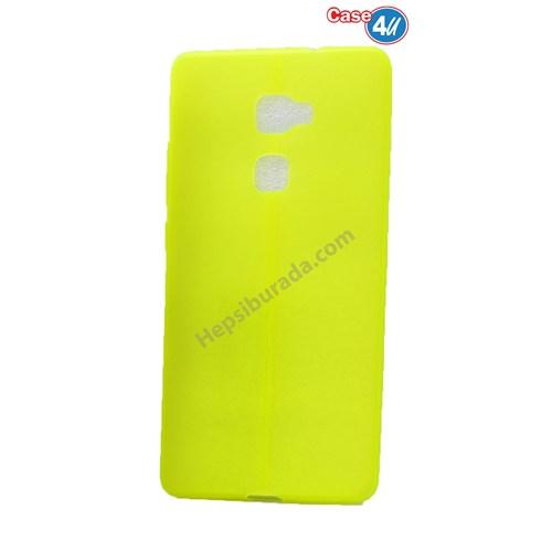 Case 4U Huawei Mate S Desenli Silikon Kılıf Fosfor Yeşili