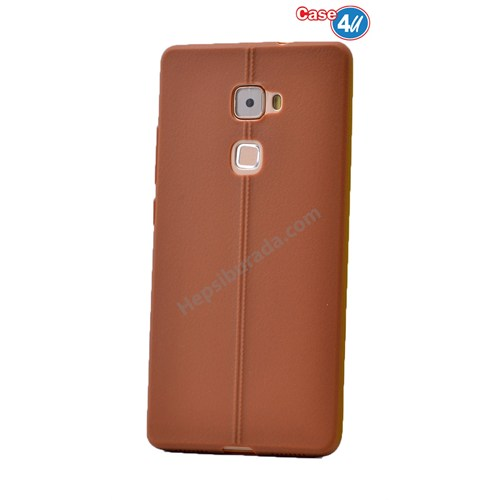 Case 4U Huawei Mate S Desenli Silikon Kılıf Kahverengi