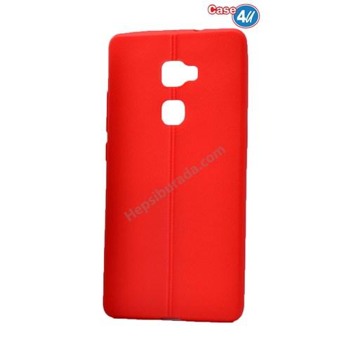 Case 4U Huawei Mate S Desenli Silikon Kılıf Kırmızı