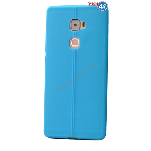 Case 4U Huawei Mate S Desenli Silikon Kılıf Mavi