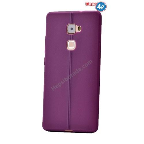 Case 4U Huawei Mate S Desenli Silikon Kılıf Mor