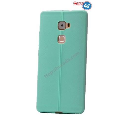 Case 4U Huawei Mate S Desenli Silikon Kılıf Su Yeşili