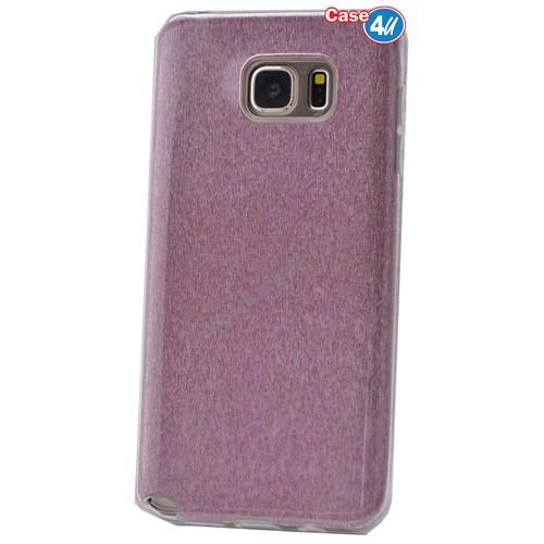 Case 4U Samsung Galaxy Note 5 Simli Silikon Kılıf Pembe