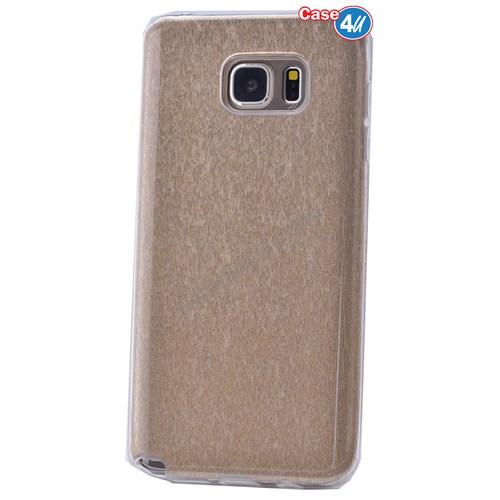 Case 4U Samsung Galaxy Note 5 Simli Silikon Kılıf Altın