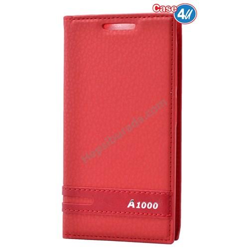 Case 4U Lenovo A1000 Gizli Mıknatıslı Kapaklı Kılıf Kırmızı