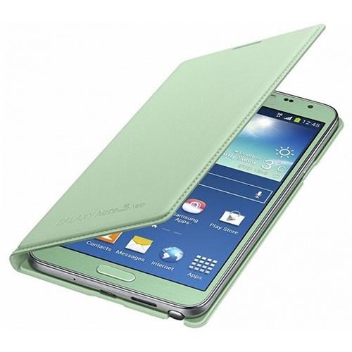 Samsung Galaxy Note 3 Neo Flip Wallet Kılıf Yeşil