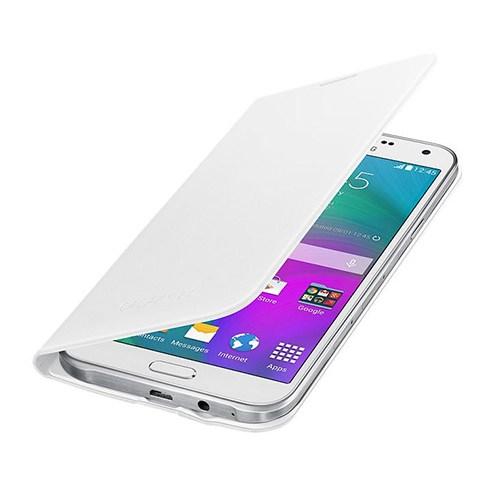 Samsung Galaxy E7 Flip Wallet Cover Beyaz