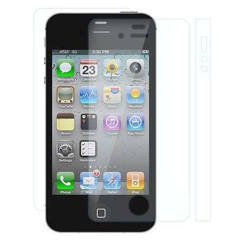 Bufalo Apple iPhone 4 | 4S Ön+Arka+Kenar Darbe Emici Ekran Koruyucu